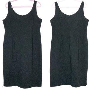 Eileen Fisher Dark Grayish Black Sheath Dress